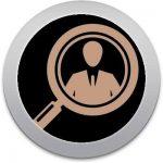 icono de lupa señalando a una persona en representación de que se puede tener el control y dar acceso por personas