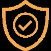 Icono de un escudo con un visto representando seguridad de los candados ABLOY